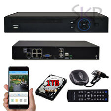 Standalone 4CH CHANNEL Full 720P OnVif NVR POE Security Camera System HDMI 1TB