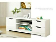 120cm White TV Stand Entertainment Unit Cabinet Storage with Drawers