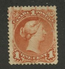 Canada 1868 Large Queen 1c brown red 'Bothwell Paper' #22ii used - Red cancel