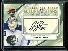 2011-12 ITG Between the Pipes Goaliegraph Autograph #A-JZ   Jeff Zatkoff