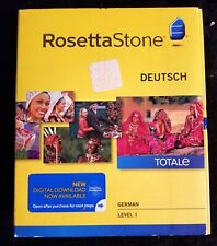 ROSETTA STONE -GERMAN DEUTSCH TotalE SET Level 1 Version 4 SEALED BOX
