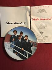 "The Beatles ""Hello America"" Collectible Delphi Plate Number 5190F c1991"