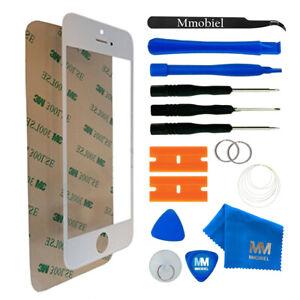 Front Glas für iPhone 5 / 5C / 5S / SE (WEISS) Display Reparatur Set + Werkzeug