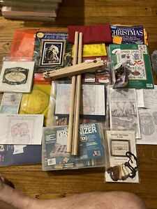 Cross Stitch / Needlepoint Lot A Used Supplies