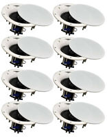 """8 Pack - TDX 6.5"""" 2-Way Ceiling Wall Home Theater Speaker Flush Mount White New"""