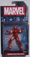 MARVEL INFINITE SERIES. HEROIC AGE IRON MAN. 4 INCH FIGURE. NEW ON CARD