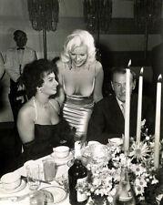 "Sophia Loren and Jayne Manfield at Romanoff's 14 x 11"" Photo Print"