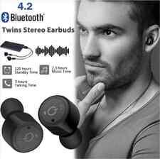 Mini True Wireless Bluetooth Twins Stereo In-Ear Headset Earphone Ear-buds Black