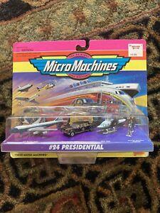 MICRO MACHINES #24 PRESIDENTIAL Miniatures Car Plane 65020 Galoob 1995 Vintage