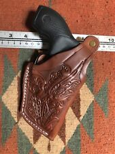 "Smith & Wesson 36 2"" Barrel 38 Special Leather Thumb Break Holster Floral Scroll"