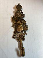 Vintage French  Brass  Wall Hook Coat Hanger Hanging Key Holder