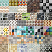 Self Adhesive Mosaic Tile Wall Sticker Waterproof Kitchen Decals Decor 10&20cm