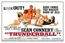"JAMES BOND - THUNDERBALL - MOVIE POSTER 18"" X 12"" SEAN CONNERY"