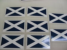 8 SCOTLAND FLAG Sticker Decal LOT 4 boat car Window Truck suv Wholesale Scotish