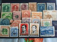 Lot de timbres amerique latine vénézuela , pèrou , uruguay