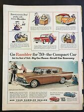 1959 Vintage Ad for Rambler - The Compact Car - Absent- Minded Professor by Hoff