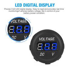 Led Digital Voltmeter Car Motorcycle Voltage Volt Gauge Panel Meter 12v 24v