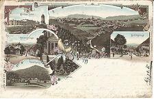Andreasberg, Harz, Brocken-Hotel, Litho-Ak, Bahnpost Schwarzfeld-Andreasberg