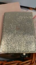 Pottery Barn gold  passport case mono Iw New wo tag
