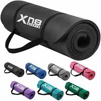 XN8 Yoga Mats 1/2 Inches Thick NBR Exercise Gym Mat Non Slip With Carry Straps