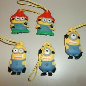 Despicable Me Minions - Ornament / Key Chains - General Mills Cereal - Lot of 5