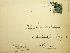 INDIA 1935 HYDERABAD SIKH REGIMENT MILITARY COVER TO SWITZERLAND