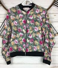Urban Outfitters S Floral Cropped Jacket Full Zip Light Weight Viscose One&Only