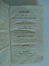 1816 Say Epitome de los Principios Fundamentales de la Economía Política+2 Obras