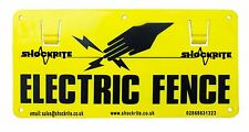 10 X ELECTRIC FENCE PLASTIC WARNING SIGNS Double Sided For Poly Rope Tape