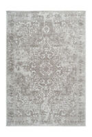 Vintage Schnörkel teppich Azteken Orientalsch Design Grau Beige Taupe 80x150cm