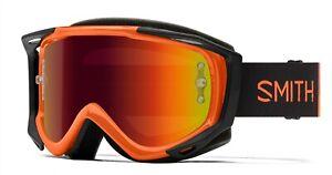 Smith Fuel V.2 MTB/Bike Goggles Cinder Haze Frame, Red Mirror Lens +Bonus New