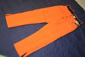 VTG NWT SAFTBAK Hunter Blaze Orange Hunting Pants Insulated Winter L 38-40 USA