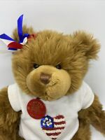 Build A Bear Collectibears Teddy Bear Plush Centennial Maxine Clark 2001 Outfit