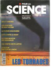 POUR LA SCIENCE N°216 LES TORNADES / BRUIT DE FOND /COMMNUCATION DES GRENOUILLES