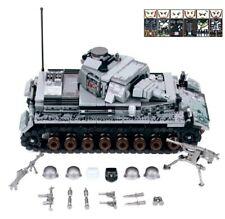 4 Figurines Tank Militaire Allemand Char d'assaut WW2 compatible avec Lego