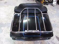 OEM Harley FLTHC Tour Pak Pack Luggage Box 97-08 Vivid Black w/ Blue & Silver