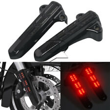 Red LED Light Front Lower Fork Leg Covers for Harley FLHR FLHX FLHT 2014-2016