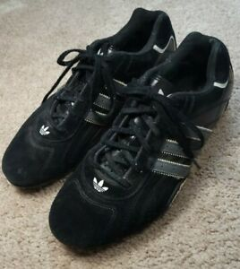 TEAM ADIDAS (779001)-Blk Suede Leather, Mens Athletic Perform.Driving Shoes-(8)