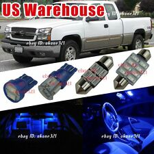 17x Pure Deep Blue Car LED Lights Interior Package Kit For 99-06 Chevy Silverado
