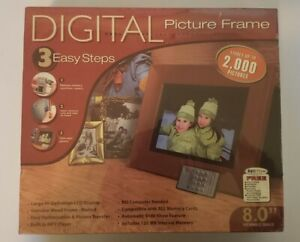 "Smartparts SPDPF84M 8Inch Digital Picture Frame High Resolution 8"" LCD Display"
