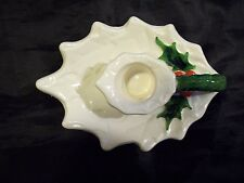 VINTAGE 1970/71 LEFTON CHRISTMAS HOLLY W/BERRIES CANDLE HOLDER STICKER #6052