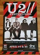 U2 Vertigo 2005 Tour Poster / Kings Of Leon - Seattle Promo Only 24x36