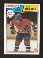 1983-84 OPC O-Pee-Chee MATS NASLUND Rookie #193 NM-MINT Montreal Canadiens