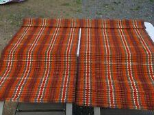 Vintage Mid Century Modern Circa 1960's-1970's Yarn Woven Wooden Roman Blinds