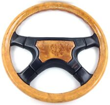 Genuine Italvolanti Prestige wood rim leather 380mm steering wheel. SUPERB!   7C