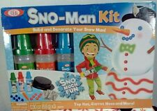 Ideal Sno-Man Kit Brand New in Box Lot of 2.Spray Paint to decorate, Free Gift.