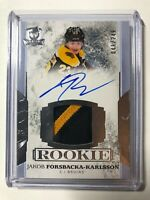 2017-18 Upper Deck THE CUP Jakob Forsbacka-Karlsson Rookie Patch Auto /249