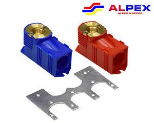 2 Boîte à Encastrer rouge et bleu 1/2 x 16 avec support et raccords alpex