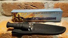 """BuckShot Anniversary Mini Sheath Knife World War II Black 7.5"""" new US Spirit PA"""