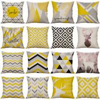 18'' Striped Pillow Case Cotton Linen Sofa Cushion Cover Sofa Home Decor